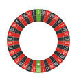 american roulette wheel vector image