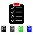 task list flat icon vector image
