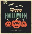 Happy Halloween Vintage Typographic Template vector image