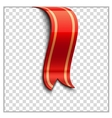 Red bookmark decoration ribbon vector image