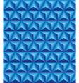 Tripartite pyramid blue seamless texture vector image