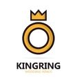 Royal ring logo or icon vector image