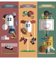 Team sport vertical banners set vector image