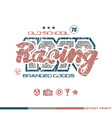 Racing emblem in retro style vector image