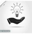 Light Bulb in Hand icon vector image vector image