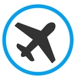 Airplane Circled Icon vector image