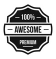 awesome logo simple style vector image