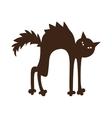 Black cat vector image
