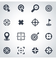 black target icon set vector image