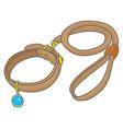 dog collar vector image