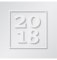 happy new year merry christmas 2018 in square vector image