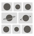 icons with planets of the solar system vector image