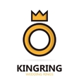 Royal ring logo or icon vector image