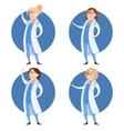 Set of doctor women vector image