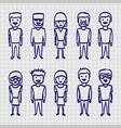 sketch people sing sketch boy vector image