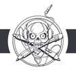Skull Designer Black vector image