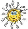 sun cartoon with plung vector image