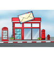 A post office vector image vector image