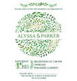 wedding invitationwatercolor green brunches vector image