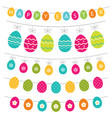 easter eggs banners set vector image vector image