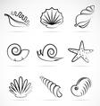Shellfish vector image vector image