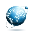 Abstract world icon vector image
