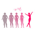 Be fit woman silhouette images vector image vector image