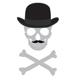 Skull gentleman vector image