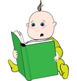 reading baby vector image vector image