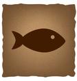 Fish sign Vintage effect vector image