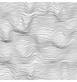 abstract black and white wave texture background vector image