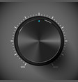 Black volume control button Metall texture vector image