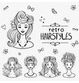 hairstyles black vector image