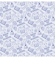 Seamless pattern with school elements on the vector image
