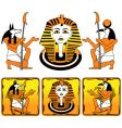 tiles Egyptian gods vector image