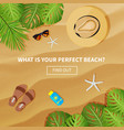 flat banner for summer travel vector image
