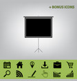 blank projection screen  black icon at vector image
