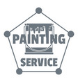 painting service logo simple style vector image