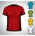 T-Shirt design template in various colors vector image