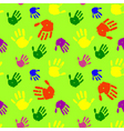 color hands palms background vector image