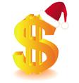 dollar currency xmas vector image vector image