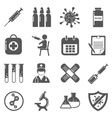 Vaccinations black icons set vector image vector image
