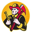 firefighter symbol vector image