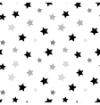 Stars seamless pattern white 3D vector image