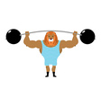 Circus Lion Strong retro athlete big beast in vector image
