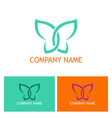 abstract butterfly beauty logo vector image