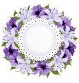 Border Of Colorful Flowers vector image