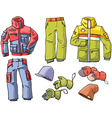 Clothes for Skiing and Snowboarding vector image