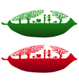 Couple Love Leaf Background vector image