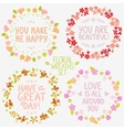 floral wreaths set vector image